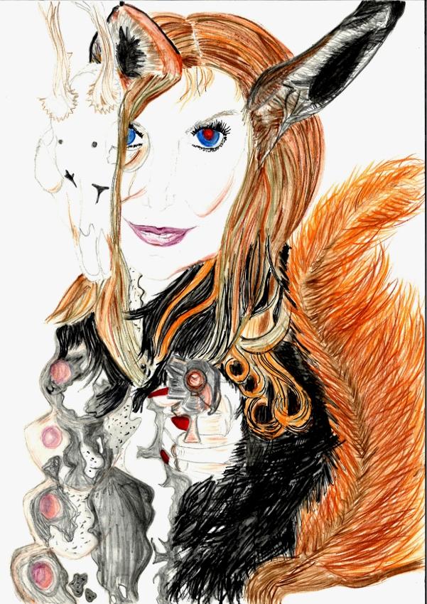 foxy ink pastel A4