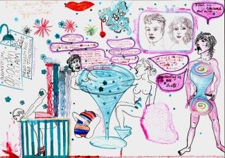 storyboard II ink pastel A3